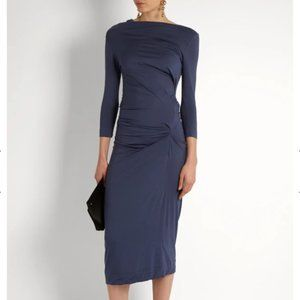 Vivienne Westwood Long Sleeve Taxa Blue Dress